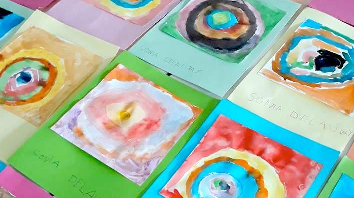 ntre Kandinsky e Sonia Delaunay