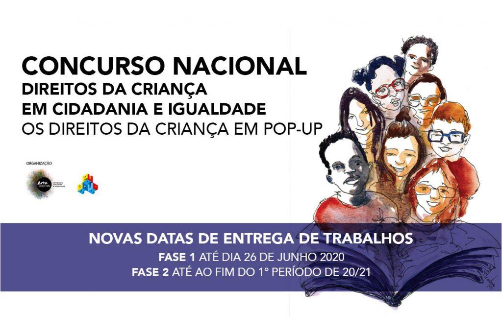 Novas datas concurso nacional direitos da crianca em cidadania e igualdade