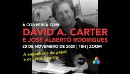 David A. Carter livros pop up conversa Zoom dia 20 de novembro