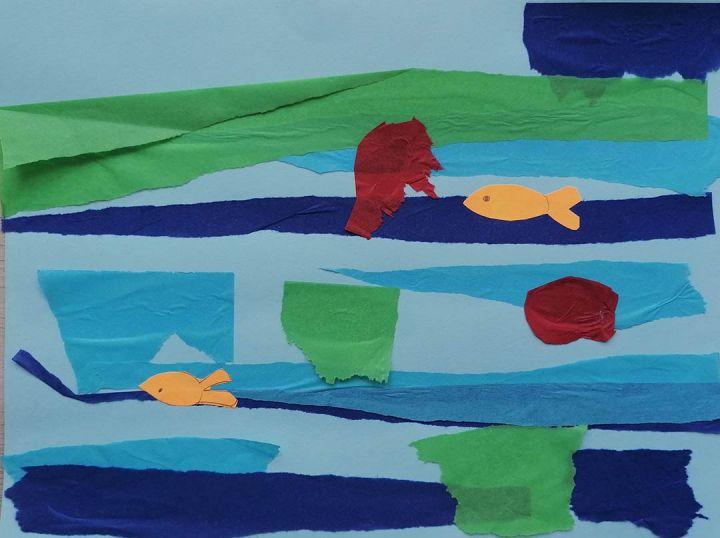Dinis, 8-anos, artista de referência Calude Monet