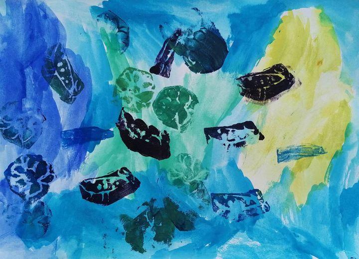 Maria Rita, 6 anos; artista de referência Viktoria Astrom