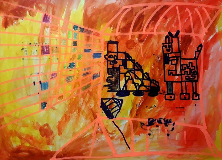 Miguel, 8 anos; artista de referência Vieira da Silva