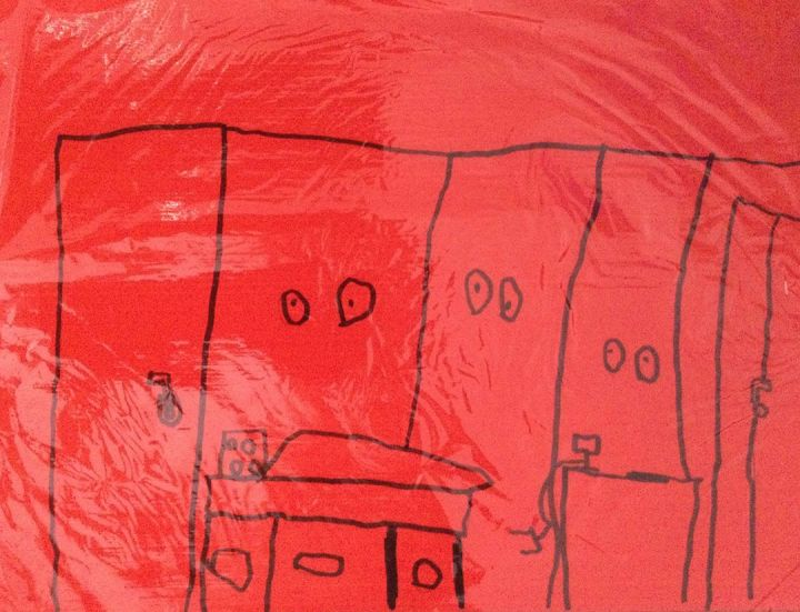 Tiago, 7 anos; artista de referência James Turrell