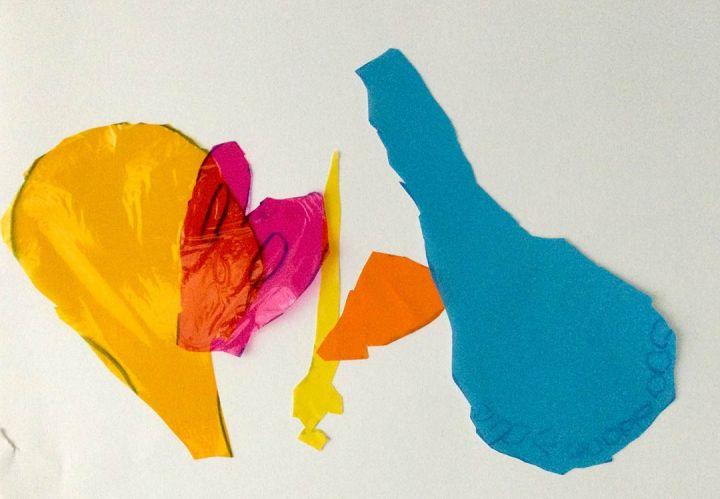 Tiago, 8 anos; artista de referência Lourdes Castro