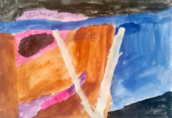 Valentina, 6 anos; artista de referência Maja Petric